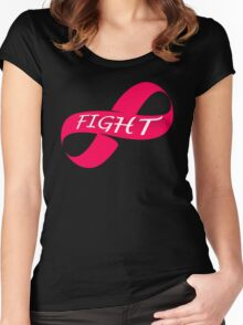 Infinity Fight Breast Cancer Women's Fitted Scoop T-Shirt