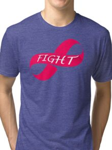 Infinity Fight Breast Cancer Tri-blend T-Shirt