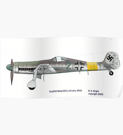 Focke Wulf Ta152H-1a Jg11 1945 Poster