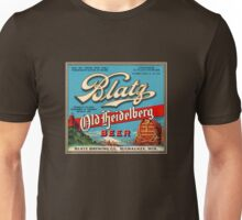 Blatz Old Heidelberg Vintage Beer Label Restored Unisex T-Shirt