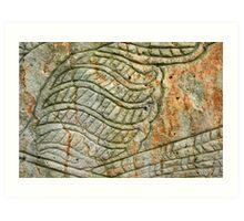 Aboriginal rock carving 1 Art Print