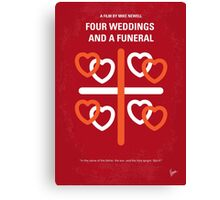 No259 My Four Weddings and a Funeral minimal movie poster Canvas Print