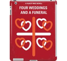 No259 My Four Weddings and a Funeral minimal movie poster iPad Case/Skin