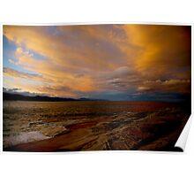 tasman sunset. australia Poster