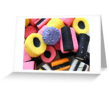 Liquorice Allsorts - You May Take One! Greeting Card