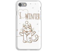 Love winter. iPhone Case/Skin