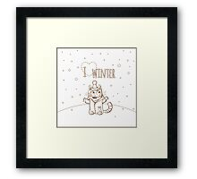 Love winter. Framed Print