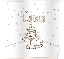 Love winter. Poster