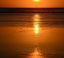 Sunset and waves III by Afonso Azevedo Neves