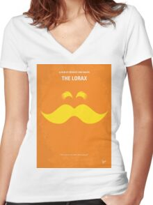 No261 My THE LORAX minimal movie poster Women's Fitted V-Neck T-Shirt
