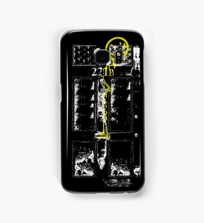 Smile! You're at 221B - yellow, gritty Samsung Galaxy Case/Skin