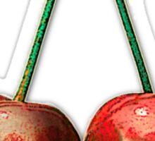 cherry skulls Sticker