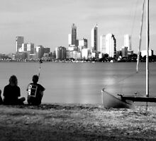 View from South Perth 1992 by BigAndRed