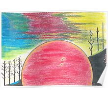 Red Sun Sinking Poster