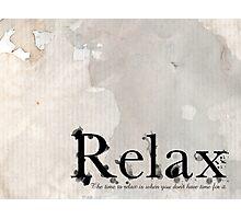 Relax - Bathroom Art Photographic Print