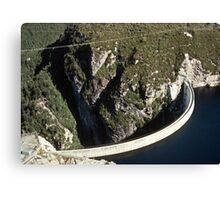 Gordon River dam Tasmania 19780120 0005 Canvas Print