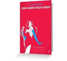 No271 My ROGER RABBIT minimal movie poster Greeting Card