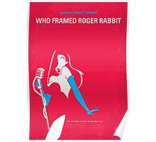 No271 My ROGER RABBIT minimal movie poster Poster