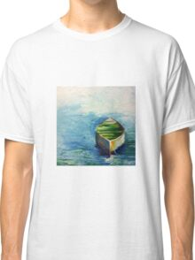 Lonely Boat. Boat painting Classic T-Shirt