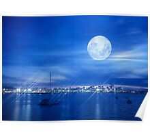 Auckland city from North Shore Poster