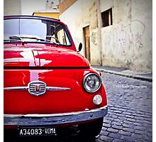 Little Red Fiat Photographic Print