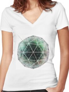 Flower Seed - Abstract CG Women's Fitted V-Neck T-Shirt