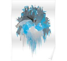 Ice Abstract Poster