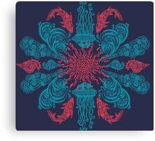 Summer Ocean Mandala  Canvas Print