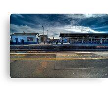 station platform Canvas Print