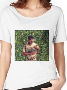 TEMPTATION-PYTHON-MAN- AND THE FORBIDDEN FRUIT..PILLOW-JOURNAL-TOTE BAG-ECT.. Women's Relaxed Fit T-Shirt