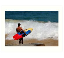 Surfer at Cottesloe Art Print
