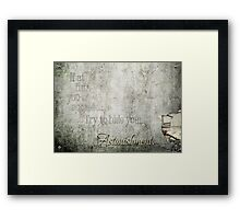If at first you do succeed... Framed Print