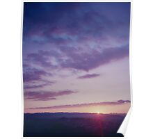 Sunset from One Tree Hill Poster