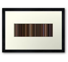 Moviebarcode: The Godfather: Part II (1974) [Simplified Colors] Framed Print