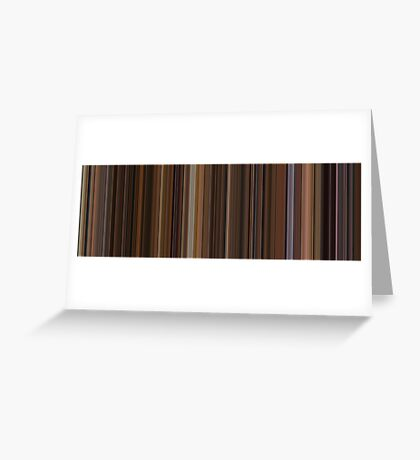 Moviebarcode: The Godfather: Part II (1974) [Simplified Colors] Greeting Card