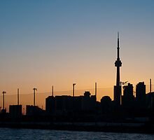 CN Tower & Polson Quay From Cherry Street by Gary Chapple