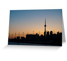 CN Tower & Polson Quay From Cherry Street Greeting Card