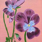 purple pansies by maggie326