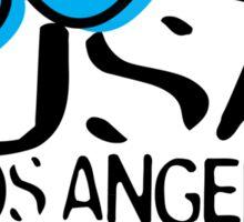 usa los angeles tshirt by rogers bros co Sticker