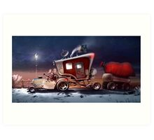 My ten wheel house (christmas version) Art Print