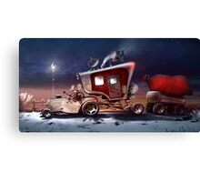 My ten wheel house (christmas version) Canvas Print