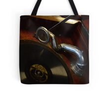 Old 78 Record Player Tote Bag