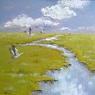 Sandhill Cranes by Claudia Hansen