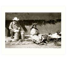 Street Vendors in Xela Art Print