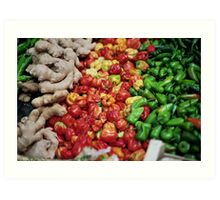 Chilies and Ginger - Burrough Market London Art Print