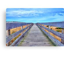 Up The Long Boardwalk Canvas Print