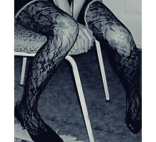 More Chair, More Legs Photographic Print