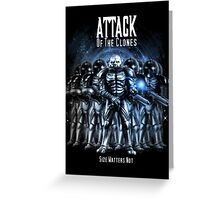 Sontaran's: Attack of the Clones - Size Matters Not Greeting Card
