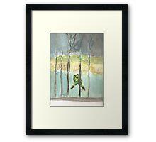 Skating the pond alone. Framed Print