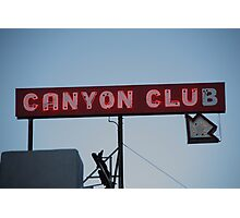Route 66 - Canyon Club Neon Photographic Print